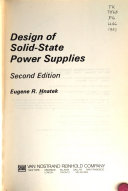 Design Of Solid State Power Supplies Book PDF