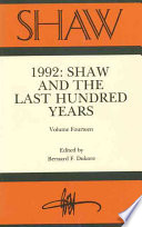 1992 Shaw And The Last Hundred Years Book PDF