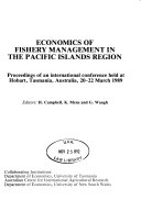 Economics of Fishery Management in the Pacific Islands Region