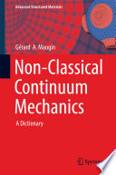 Non Classical Continuum Mechanics Book