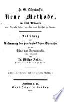 H. G. Ollendorff's Neue Methode, in sechs Monaten eine Sprache lesen, schreiben und sprechen zu lernen