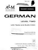 A-LM German: Level two; text and t.m