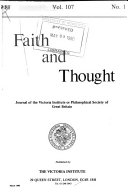 Faith and Thought Book