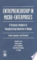 Entrepreneurship in Micro enterprises