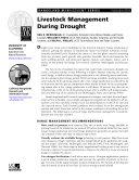 Rangeland Management Series: Livestock Management During Drought