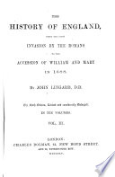 The History of England  from the First Invasion by the Romans to the Accession of William and Mary in 1688 Book PDF