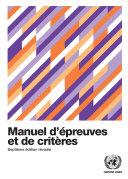 Pdf Manuel d'épreuves et de critères - Septième édition révisée Telecharger