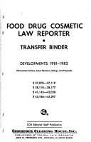 Food, Drug, Cosmetic Law Reporter