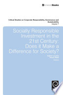 Socially Responsible Investment In The 21st Century Book PDF