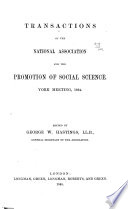 Transactions of the National Association for the Promotion of Social Science Book