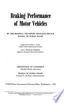 Braking Performance of Motor Vehicles