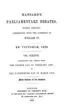 Hansard''s Parliamentary Debates