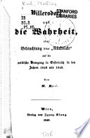 Pillersdorf und die Wahrheit