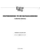 Oxfordshire to Buckinghamshire Book