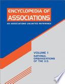 Encyclopedia of Associations  , Band 1,Teil 1