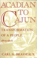 Acadian to Cajun Pdf