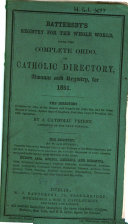 Battersby's Registry for the whole world, with the complete ordo, or Catholic directory, Almanac and Registry, for...