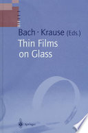 Thin Films On Glass Book PDF