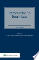 """""""Introduction to Dutch Law"""" by Jeroen Chorus"""