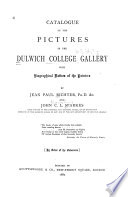 Catalogue of the Pictures in the Dulwich College Gallery