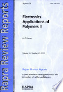 Electronics Applications of Polymers II