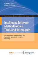 Intelligent Software Methodologies  Tools and Techniques Book