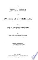 A Critical History of the Doctrine of a Future Life Book