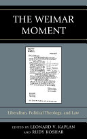 The Weimar Moment [Pdf/ePub] eBook