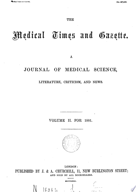 THE+MEDICAL+TIMES+AND+GAZETTE%2C+A+JOURNAL+OF+MEDICAL+SCIENCE