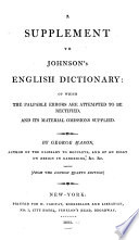 A Supplement To The Oxford English Dictionary [Pdf/ePub] eBook