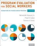 Program Evaluation for Social Workers