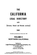 The California Legal Directory With Arizona Hawaii And Nevada Sections