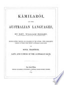 Kámilarói, and other Australian languages