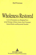 Wholeness Restored Book