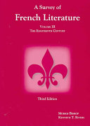 A Survey of French Literature: The nineteenth Century