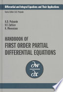 Handbook of First Order Partial Differential Equations