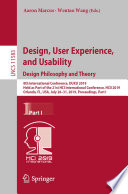 Design  User Experience  and Usability  Design Philosophy and Theory