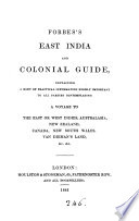 East India And Colonial Guide