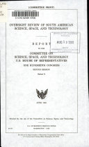 Oversight Review of South American Science  Space  and Technology