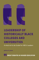 Leadership of Historically Black Colleges and Universities