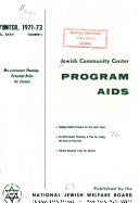 Jewish Community Center Program Aids