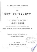 The Parallel New Testament Book