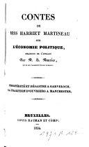 Contes de Miss Harriet Martineau sur l'économie politique: Prospérité et désastre à Garveloch; La coalition d'ouvriers à Manchester