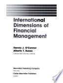 International Dimensions of Financial Management