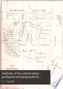 Bulletin of the United States Geological and Geographical Survey of the Territories