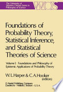 Foundations and Philosophy of Epistemic Applications of Probability Theory