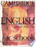 Cambridge English for Schools 3 Student's Book