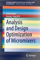 Analysis and Design Optimization of Micromixers