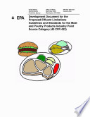 Development Document For The Proposed Effluent Limitations Guidelines And Standards For The Meat And Poultry Products Industry Point Source Category 40 Cfr 432