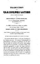 Traduction des classiques latins avec le texte en regard ou bibliothèque latine-française. C. L. F. Panckoucke ...